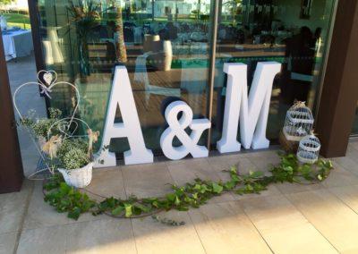 alquiler de letras para bodas